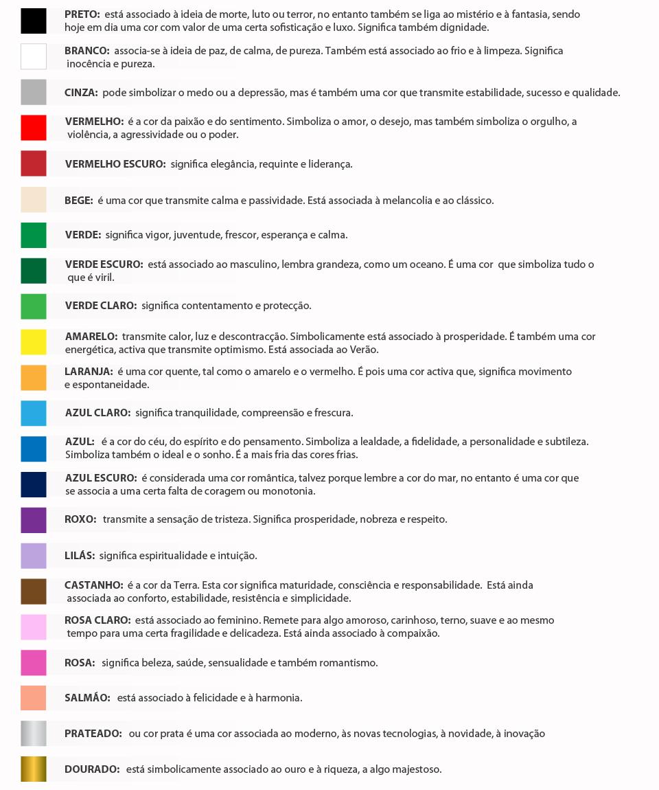 JK Tintas Significado das cores ~ Cores Para Quarto Significado